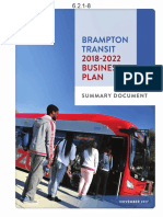 Brampton Transit 2018-2022 Business Plan