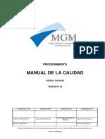 GQ-M-001 Manual de Gestión de La Calidad