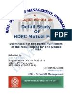 Ajay Detail Study of HDFC Mutual Fund
