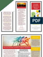 prevention marketing brochure