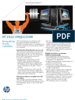HP Z400 Specification Sheet