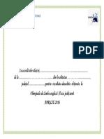 Model Diploma Olimpiada