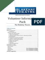 Volunteer Information Pack