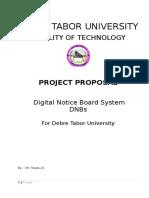 Proposal DNB