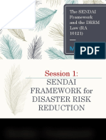 SENDAI Framework and DRRMLaw