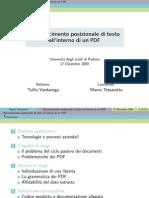 Riconoscimento Posizionale di Testo all'Interno di un PDF (slideshow)