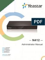 Yeastar N412 Administrator Manual en.en.Es