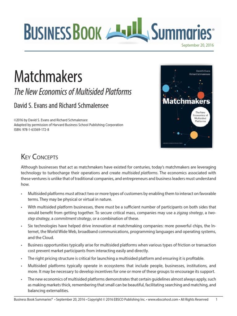 Matchmaking economics