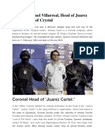 Ignacio Coronel Villarreal, Head of Juarez Cartel, King of Crystal