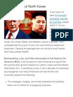 The Truth About North Korea  |  Ferris Eanfar