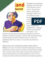 Ayn Rand's Welfare Secret  |  Ferris Eanfar