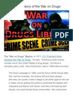 The Secret History of the War on Drugs  |  Ferris Eanfar