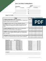 Case Study Grading Rubric