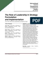Jurnal Bentuk Kepemimpinan Dalam Rumusan Strategi Dan Implementasi