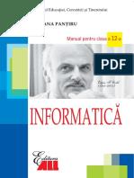 Informatica. Manual pentru clasa a XII-a  Pantiru Mariana