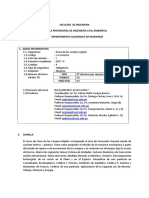Sílabo de Física de los Cuerpos Rígidos. Ingeniería Civil Ambiental. PLAN 2017 - Ciclo 2017 - II.doc