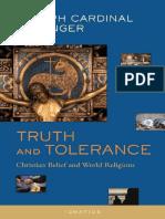 Truth and Tolerance - Joseph Ratzinger Benedict XVI