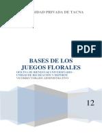 Bases de Los Juegos Florales 2012
