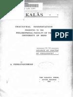The Kalas - Venkatasubbiah (1911)