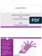 chapter 4 - identifying the inquiry and stating the problem