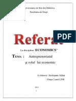 Antreprenoriatul şi rolul lui economic..docx