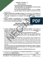 Social Justice PYQ Analysis
