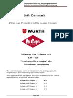 Würth  1. eksterne eksamen, PBA ISM, 5 januar 2016, færdig, 2