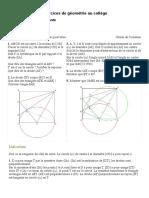 Exercice Geometrie