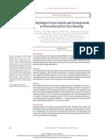 RCT Clopidogrel vs Aspirin and Esomeprazole NEJM
