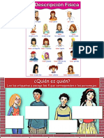 descripción  adjetivos espagnol A1