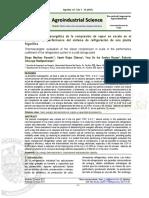 Evaluación termoexergética de la compresión de vapor en escala en el coeficiente de performance del sistema de refrigeración de una planta frigorífica
