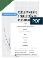 Monografía Reclutamiento y Selección - Esad 3a
