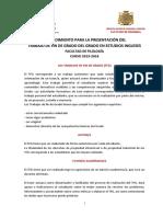 3c. ProcedimientoPresentacion TFG DptoFilologiaInglesa Enero 2016 CON ANEXOS