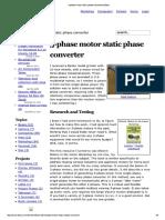 3-Phase Motor Static Phase Converter