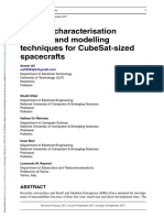 Thermal Characterisation Analysis and Modelling Techniques for CubeSat-sized Spacecrafts