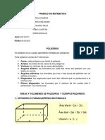 Areas y Volumenes de Los Poliedros