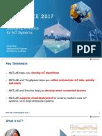 Developing Deploying Analytics for IoT