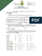 Exper-3 Boolean Algebra and de Morgan Law