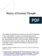 3. History of Feminist Thought