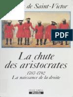 La Chute Des Aristocrates - Jacques de Saint-Victor