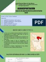 PLAN de NEGOCIOS TECNOLÓGICO (PNT) Exportación de Semilla y Aceite de Sacha Inchi (1)