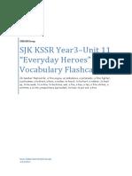 SJK KSSR YR3 - Unit 11 - Vocab Flashcards