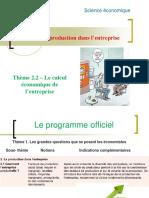 Thème 2.2- Le calcul économique de l'entreprise.ppt