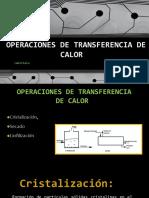 Semana 18- Operaciones de Transferencia de Calor-1