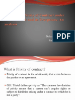 Doctrine of Privity of Contract Under Contract Law