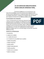 Estadística de Los Servicios Bibliotecarios en La Universidad Sanluis Gonzaga Farq