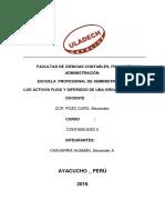 Activos Fijos y Diferidos en Una Organizacion.