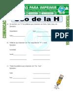 Ficha Uso de La H Para Tercero de Primaria