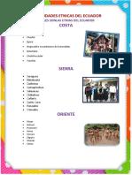 Diversidades Etnicas Del Ecuador