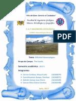 Informe de Campo Ancash - Paleontologia Word